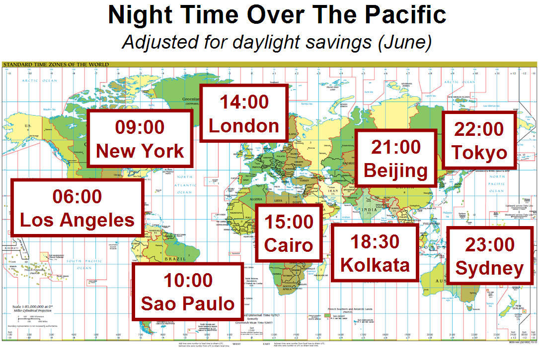 In Time Zone Map.Time Zones Global Catastrophic Risk Institute